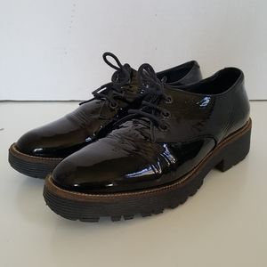Shellys London Black Leather Lace Up Oxford
